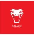snake simple logo design element vector image