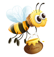A bee carrying a honey vector image