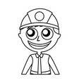 man firefighter avatar character icon vector image