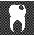Tooth with hold icon on transparency background vector image
