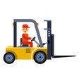 Truck loader worker man character shipping vector image