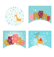 Christmas design elements set new year greetings vector