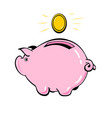 piggy bank and coin the concept of financial vector image