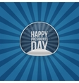 Happy Presidents Day Text on realistic Sticker vector image