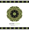 Oriental lacy ornament vector image