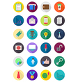 Set of color round business icons vector image