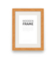 Wooden Rectangle Frame Natural vector image