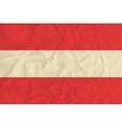 Austria paper flag vector image