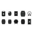 barrel icon set simple style vector image