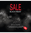 black friday sale with lights bokeh background vector image