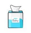 cartoon baby wipes vector image