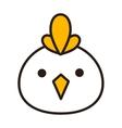 Chicken head vector image