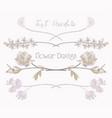 floral text dividers flower design vector image