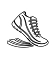shoes running pictogram vector image