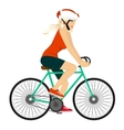 young professional cyclist woman vector image