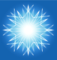Abstract snowflake over blue vector