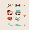 man and woman couple in love vector image vector image