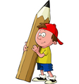 child with a pencil vector image vector image