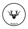 Deers antlers icon vector image vector image