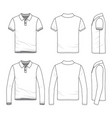 clothing set of male golf polo shirt vector image