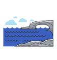 greek or cyprus mediaterranean sea cliff rock vector image
