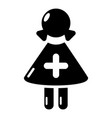 nurse icon simple black style vector image
