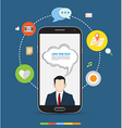 Smartphone design concept icons vector image