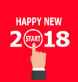 start new year 2018 idea vector image