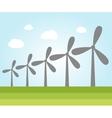 Wind power plants vector image