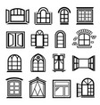window design icons set simple style vector image
