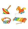 various toys vector image vector image