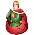 Young King With Crown vector image vector image