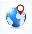 Globe navigation pin vector image