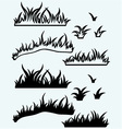 Silhouette grass vector image vector image