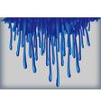 Blue paint runs vector image