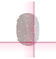 Fingerprint scan isolated on vector image