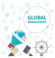 Global Management concept vector image