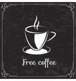 Coffee design for menu vector image
