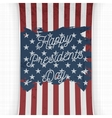Happy Presidents Day Text on USA national Flag vector image