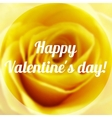 Happy Valentine Day Text on Blurred Background vector image
