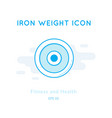 iron weight icon isolated on white vector image