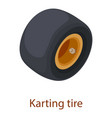 karting tire icon isometric 3d style vector image
