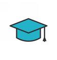 Graduation Cap Outline Icon vector image vector image