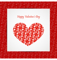 Valentine day card eps10 vector image vector image