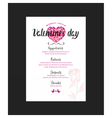 Menu template for Valentine Day dinner vector image vector image