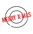 merry x-mas rubber stamp vector image