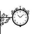 Forging retro clock with vignette arrows vector image vector image