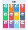 Flat style 2015 year calendar vector image