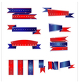 Ribbon banner flag American vector image