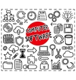 Computer Software set vector image